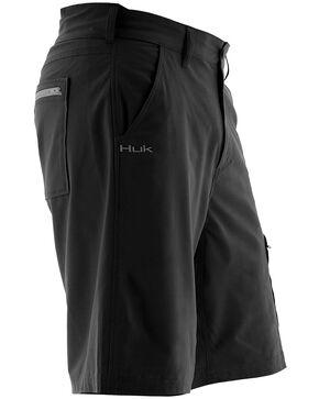 Huk Performance Fishing Men's Next Level Shorts , Black, hi-res