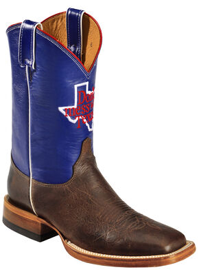 Justin Men's Don't Mess With Texas Cowboy Boots - Square Toe, Cognac, hi-res