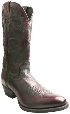 Twisted X Men's Burgundy Western Cowboy Boots - Round Toe, , hi-res
