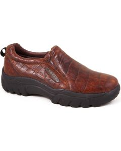 Roper Performance Croc Print Slip-On Shoes - Round Toe, , hi-res