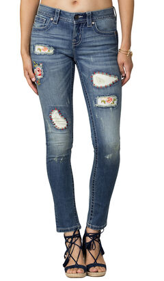 Miss Me Women's Indigo Distressed Jeans - Skinny, , hi-res