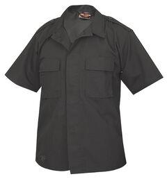Tru-Spec Men's Black Short Sleeve Tactical Shirt , , hi-res