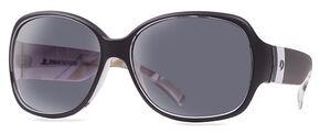 Mossy Oak Women's Break-Up Winter® Black Draw Sunglasses, Black, hi-res