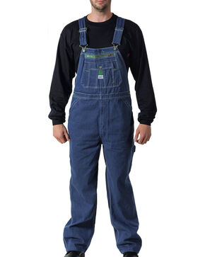 Liberty Rigid Denim Bib Overalls , Indigo, hi-res