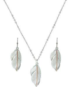 Montana Silversmiths Downy Feather Jewelry Set, , hi-res