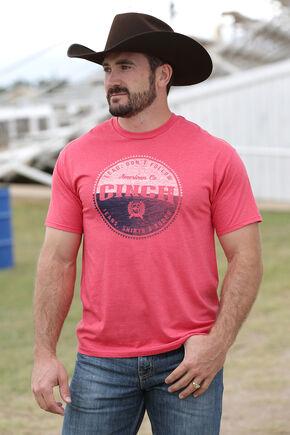 Cinch Men's Red Logo Screen Print T-Shirt , Red, hi-res