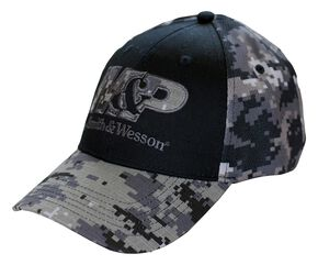 Smith & Wesson Black Camo Logo Patch Cap, Camouflage, hi-res