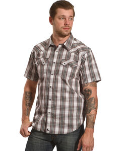 Cody James Men's Plaid Short Sleeve Snap Shirt  - Big & Tall, , hi-res