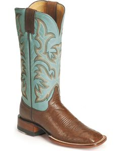 Justin Remuda Ostrich Cowgirl Boots - Square Toe, , hi-res