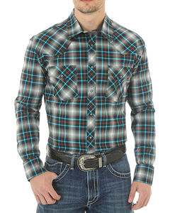 Wrangler 20X Advanced Comfort Plaid Western Long Sleeve Shirt, , hi-res
