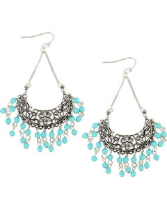 Shyanne Women's Chandelier Dangle Earrings, Turquoise, hi-res