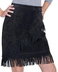 Scully Short Fringe Boar Suede Skirt, , hi-res