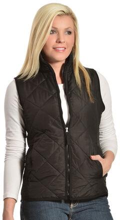 Jane Ashley Women's Diamond Quilted Vest, , hi-res