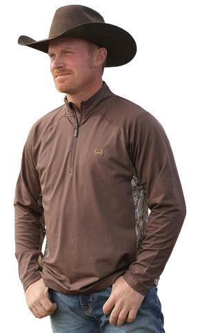 Cinch Camo Quarter Zip Lightweight Tech Pullover, Multi, hi-res