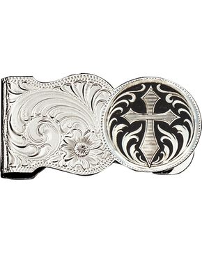 Montana Silversmiths Filigree & Cross Money Clip, Silver, hi-res