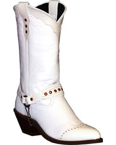 Abilene Sage White Sting Ray Wingtip Cowgirl Boots - Round Toe , , hi-res