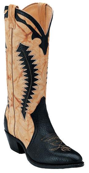 Boulet Black and Butterscotch Shoulder Boots - Medium Toe, Black, hi-res