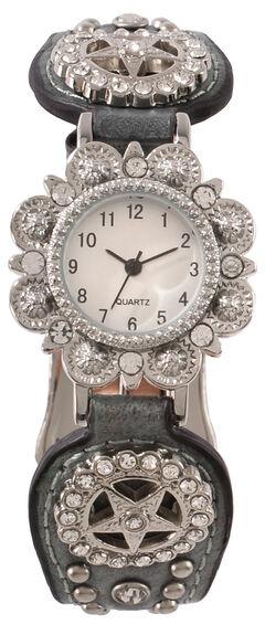 Fancy Metallic Concho Watch, , hi-res