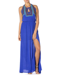 Miss Me Women's Embroidered Halter Maxi Dress, , hi-res
