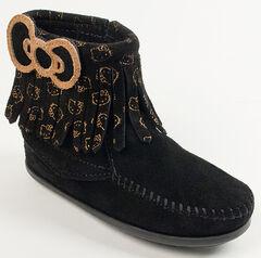 Minnetonka Girls' Hello Kitty Fringe Boots - Moc Toe, , hi-res