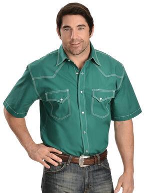 Red Ranch Green Short Sleeve Shirt, Green, hi-res