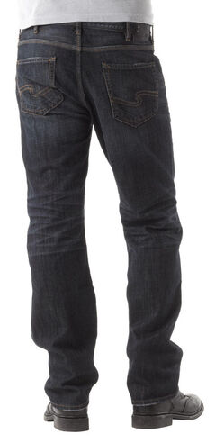 Silver Grayson Indigo Straight Leg Jeans, , hi-res