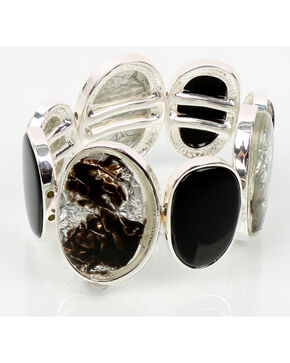 Ethel & Myrtle Foil Black Stretch Bracelet, Black, hi-res