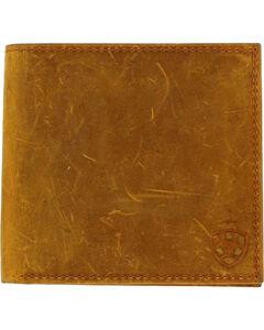 Ariat Men's Shield Logo Bi-fold Wallet , Medium Brown, hi-res