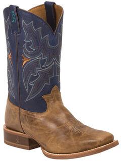 Tony Lama Honey Sierra 3R Stockman Cowboy Boots - Square Toe , , hi-res