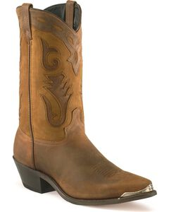 Sage by Abilene Men's Distressed Western Boots - Pointed Toe, , hi-res