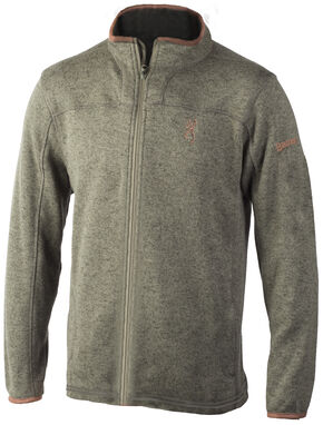 Browning Men's Clove Full-Zip Laredo Fleece Sweater, Lt Green, hi-res