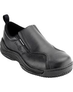 Nautilus Men's Black Ergo Slip-On Work Shoes - Comp Toe , , hi-res