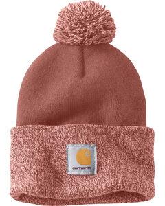 Carhartt Women's Lookout Pom Pom Hat, Light Pink, hi-res