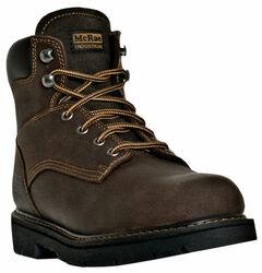 "McRae Men's 6"" Lace-Up Work Boots - Round Toe, , hi-res"
