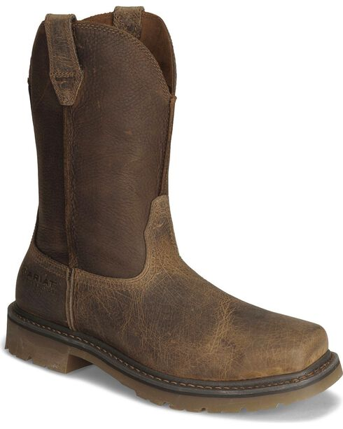 Ariat Earth Rambler Pull-On Work Boots - Steel Toe | Sheplers