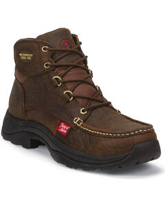 Tony Lama Men's Hedrick Work Boots - Steel Toe, Brown, hi-res