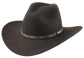 Tony Lama Chocolate 3X Wool Felt Cowboy Hat, Chocolate, hi-res