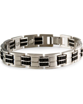 Sabona Executive Magnetic Bracelet, Silver, hi-res
