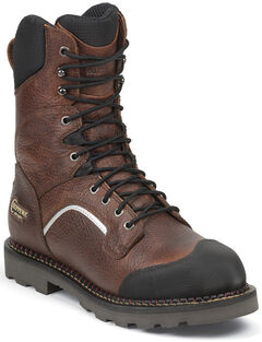 "Chippewa Men's 9"" Fall Flame Waterproof XOG Work Boots - Composite Toe, , hi-res"
