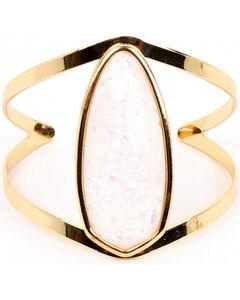 Ethel & Myrtle Best of Show White Opal Crystal Cuff Bracelet, , hi-res