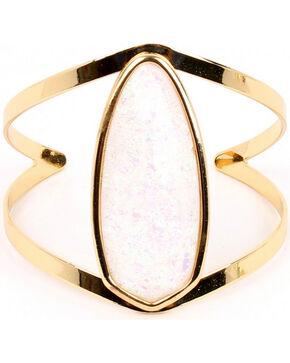 Ethel & Myrtle Best of Show White Opal Crystal Cuff Bracelet, Ivory, hi-res