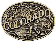 Montana Silversmiths Colorado State Heritage Attitude Belt Buckle, , hi-res