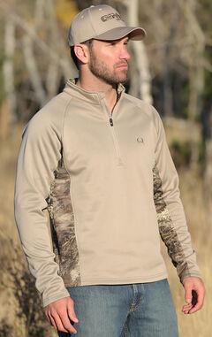 Cinch Men's 1/4 Zip Realtree Max 1 Poly-Tech Fleece Pullover, , hi-res