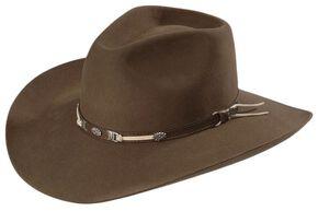 Sheplers Exclusive - Justin 4X Fur Felt Western Hat, Pecan, hi-res