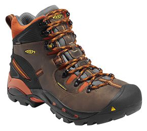 Keen Men's Pittsburgh Mid Waterproof Boots, Brown, hi-res