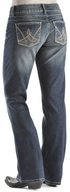 Wrangler Booty Up Exclusive Stitch Pocket Bootcut Jeans, , hi-res
