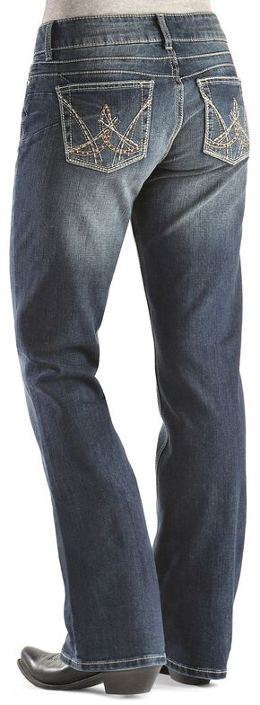 Wrangler Booty Up Exclusive Stitch Pocket Bootcut Jeans, Denim, hi-res
