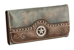 Blazin Roxx Blue Star Cross Wallet, , hi-res