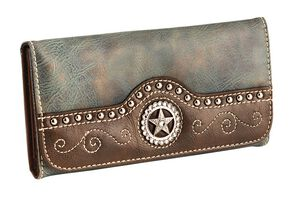 Blazin Roxx Blue Star Cross Wallet, Blue, hi-res