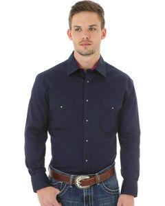 Wrangler 20X Advanced Comfort Men's Navy Button Shirt, , hi-res